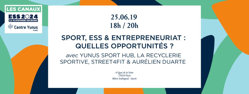 Sport, ESS & Entrepreneuriat : Quelles opportunités ?