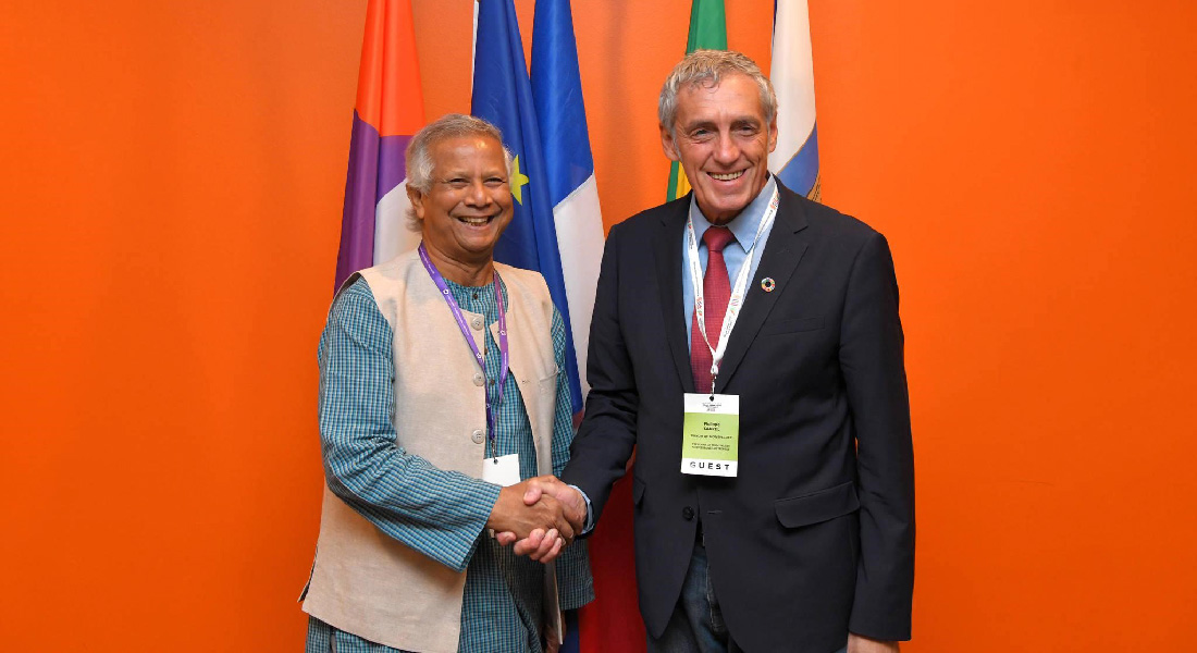 Pr. Yunus visits the Milan Pact 5th Summit in Montpellier